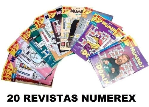 Imagem 1 de 10 de Kit 20 Revistas Domix Numeros (numerex) Sem Repetições Dj&as