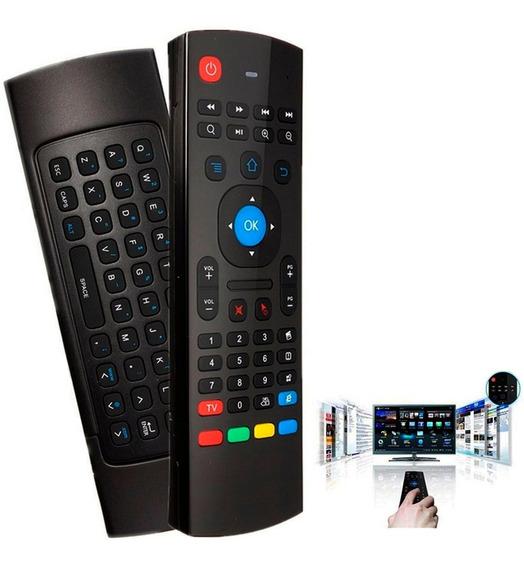 Controle Teclado Air Mouse Usb Sem Fio Usb 2.4g Pc Smart Tv
