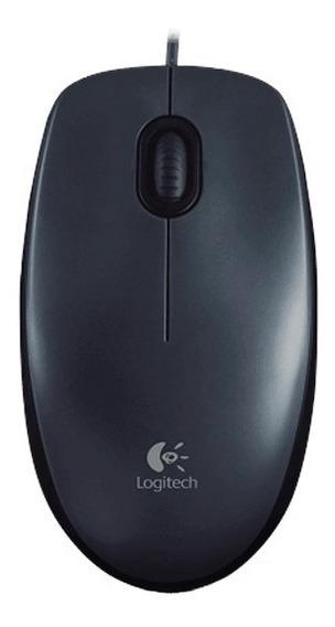 Mouse Optico Logitech M100 Usb 3 Botoes Preto