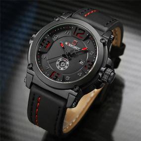 Relógio Masculino Esportivo Militar Original Pulseira Couro