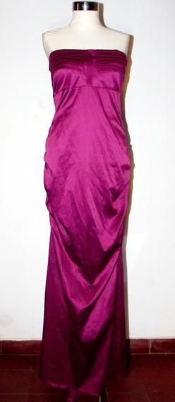 Elegante Vestido De Fiesta Strapless Tipo Sirena M Impecable