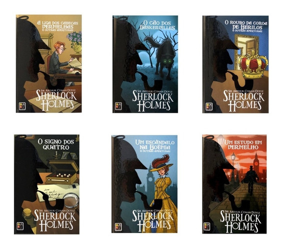 Kit Sherlock Holmes - 6 Volumes (capa Dura)
