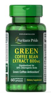 Grano Verde De Cafe 60 Capsulas Green Coffee Bean 800mg
