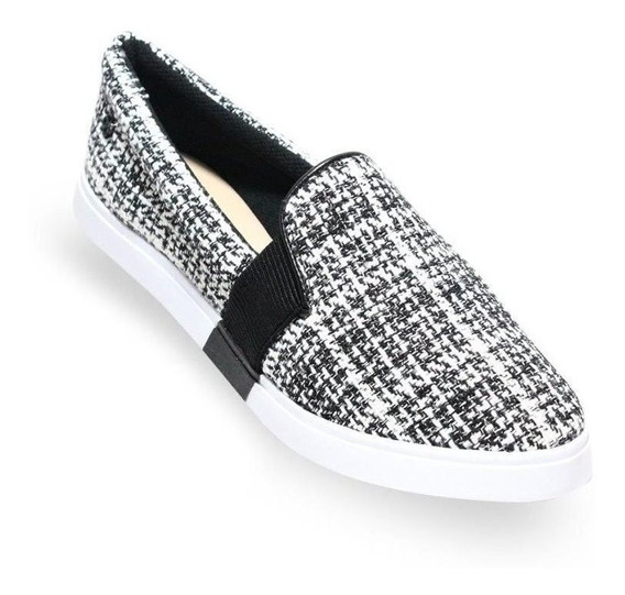 Tenis Feminino Slip On Capodarte Tweed Original