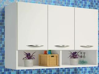 Modulo Aéreo Para Cozinha 3 Portas Com Nicho