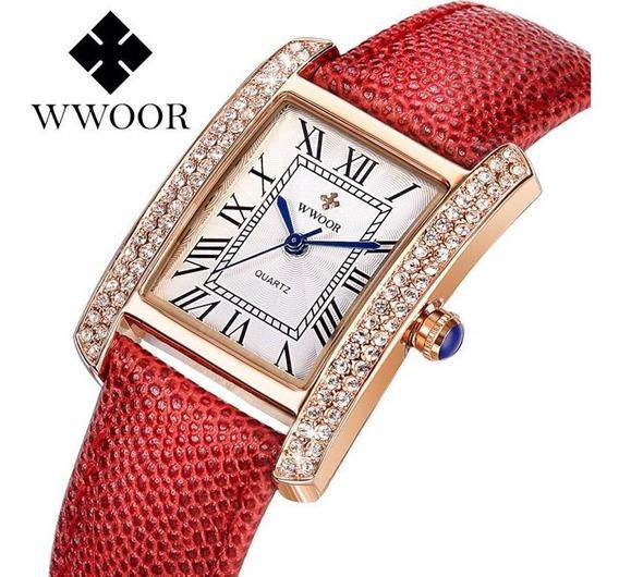 Wwoor Original Relógio Analógico Feminino Lazer