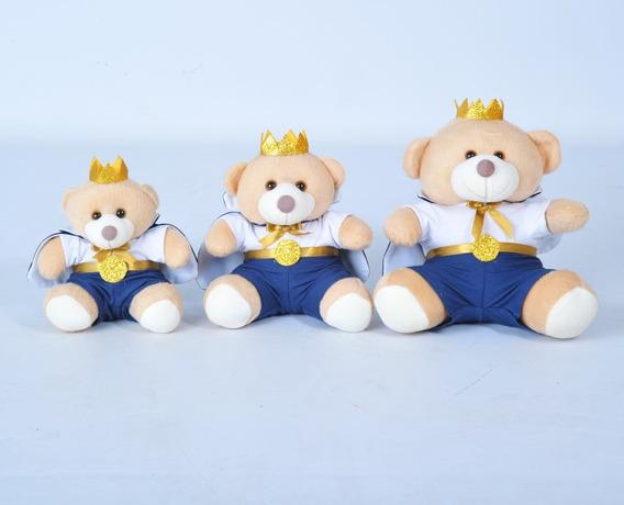 Trio De Ursinhos Para Nichos - 15cm 20cm 25cm Coroa Príncipe