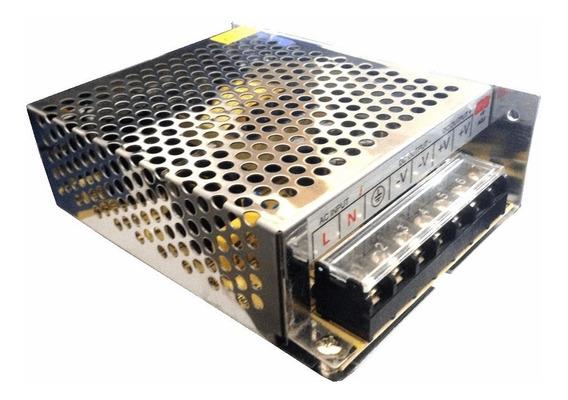 Transformador Ac 90~240v / Dc 12v 10a 120w P/ Led Cftv Som