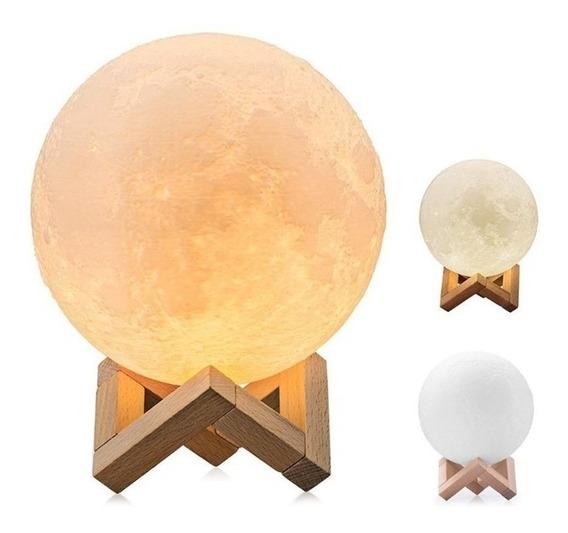 Luminaria 3d Lua Terra Cheia 15 Cm Estante Pronta Entrega