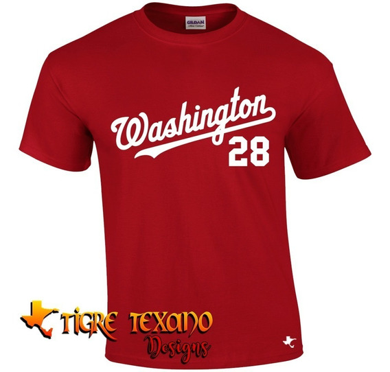 Playera Mlb Nationals Washington M 1 By Tigre Texano Designs