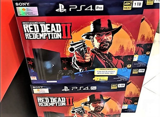 Playstation 4 Pro 1 Tera 4k Red Dead Redemption 2 + 1 Extra