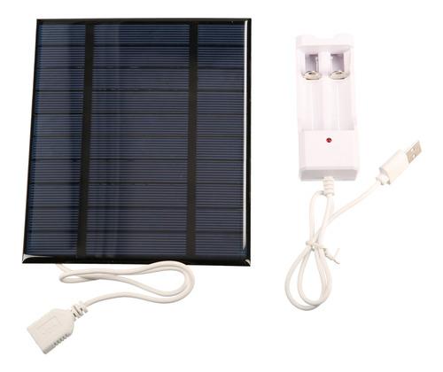 Imagen 1 de 9 de 2.5w 5v 500ma Panel Solar Con Usb Para Teléfono Móvil Ventil