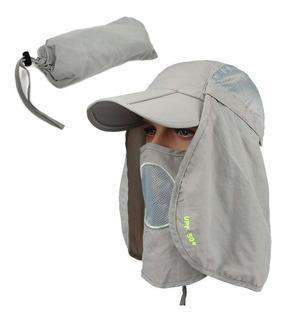 Gorra Proteccion Cuello Sol Upf50 Pesca Camping Sombrero