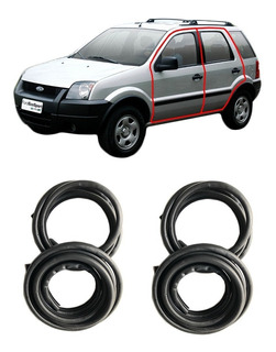 Kit Burletes Para 4 Puertas Ford Ecosport 2003 Al 2012 (kit 4 Unidades) Silvaflex