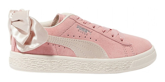 Zapatillas Puma Moda Suede Bow Ac Ps Niña Rv/be
