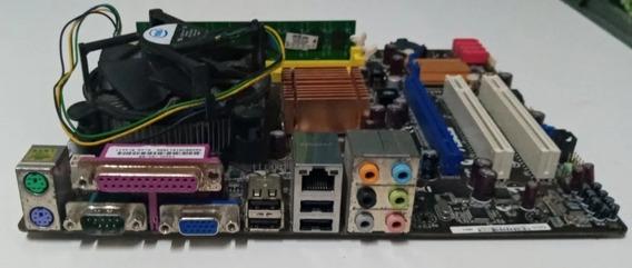 Kit Placa Mae Asus P5kpl-am Com Processador E 2gb De Memória