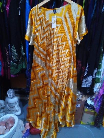 Vestido Hindú Seda Rayón Talles Especiales Importados India