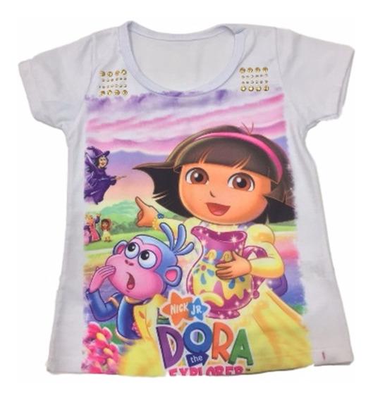 05 Blusa Camiseta Infantil Menina Roupas Infantis Atacado