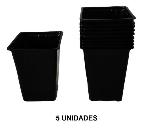 Imagen 1 de 3 de Maceta Cuadrada 300cc Liviana Cultivo Huerta Por 5 Unidades.