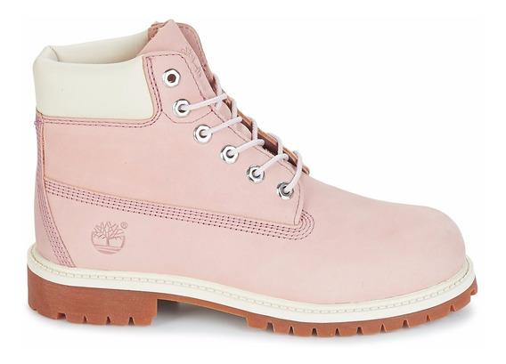 Bota Timberland Yellow Boot 6 Premium Rosa Feminino