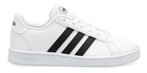 Tenis adidas Grand Court Blanco/negro Ef0103