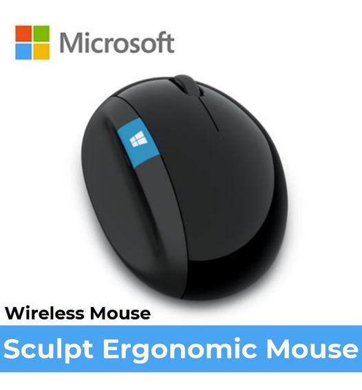 Mouse Sculpt Ergonomic Wireless Sem Fio Usb Microsoft L6v-00009 Novo Lacrado Preto