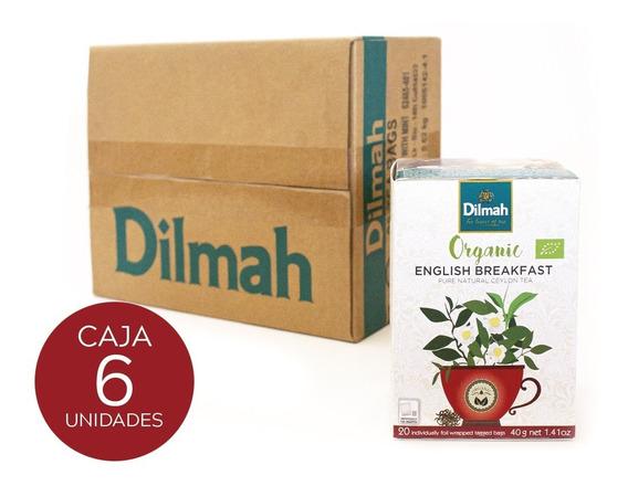 Té Orgánico Dilmah English Breakfast Caja 6 Unidades.