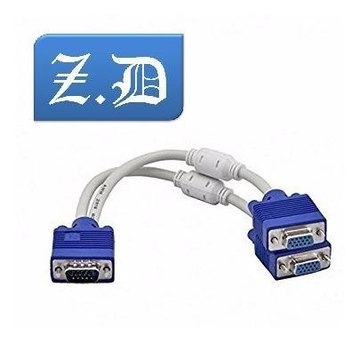 Cable Vga Splitter Macho A 2 Vga Hembra Con Filtro