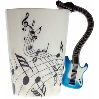 Taza Musical Intrumento Guitarra 3d Notas
