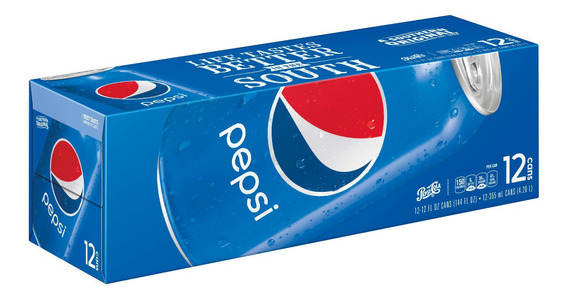 Refresco Pepsi Cola Original 12 Latas Importado Usa