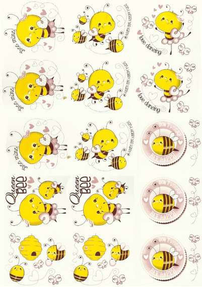 Calcos Vitrificables Abeja Baby