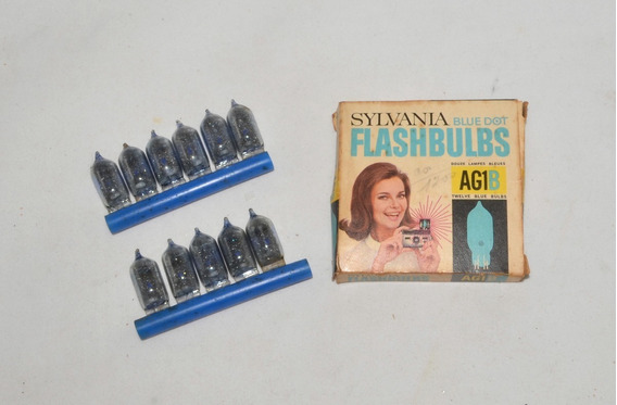 Bulbos Flash Sylvania Blue Dot Flashbulbs Ag1b - Lote 11 Pçs