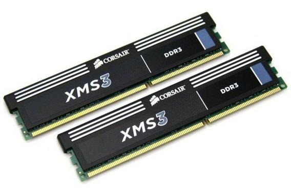 Kit Memória 8 Gb De Ram Ddr3 Corsair Xms3 1600 Mhz
