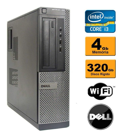 Computador Dell Optiplex 990 Core I5 4gb Hd320gb Wifi