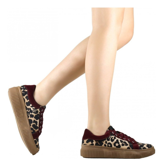 Tênis Feminino Zariff Shoes Casual Animal Print