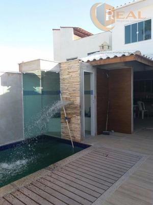 Imóvel De Alto Padrão. Excelente Casa Duplex, Localizada No Bairro Riviera Fluminense. 04 Quartos (sendo 01 Suíte) - Ca0246