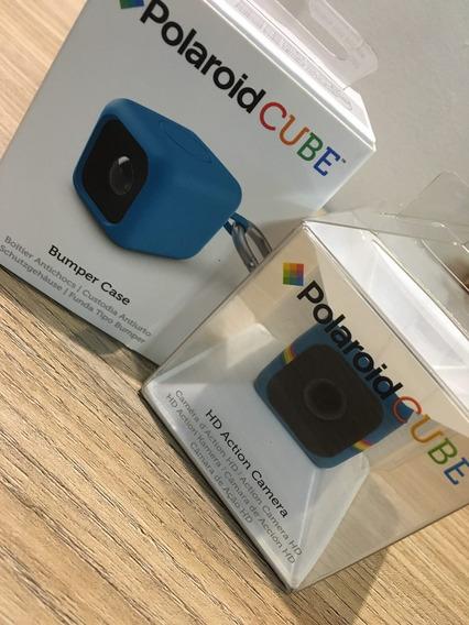 Polaroid Cube (primeira Geração) + Bumper Case - Semi Novo