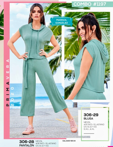Pantalón Culotte Menta 306-28 Cklass Primavera-verano 2020