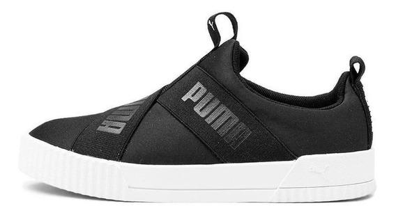 Tênis Puma Carina Slip-on Bdp Feminino - Preto E Branco