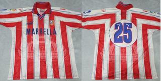 Camisa Futebol Atletico De Madrid # 25 Jogo Vasco 1997