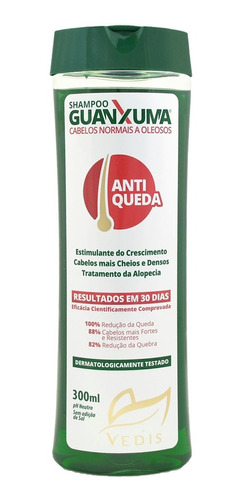 Shampoo Guanxuma Cabelos Oleosos Anti Queda Vedis 300ml