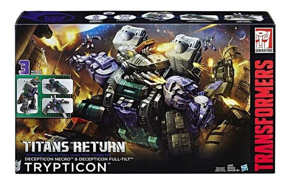 Transformers Figura Acción Titans Return Class Trypticon