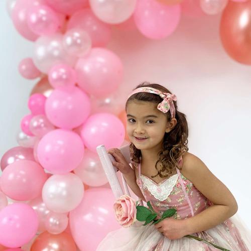 Imagen 1 de 6 de Kit De Arco Y Guirnalda De Globos Junibel | Pink, Blush, Ros
