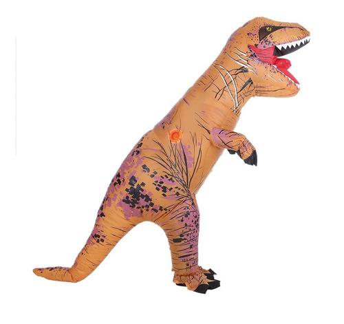 Imagen 1 de 9 de Disfraz Inflable De Tiranosaurio Rex Divertido Para Adulto