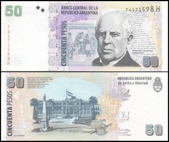 Argentina P-356 Fe 50 Pesos Nd ( 2015 ) Série H * C O L *
