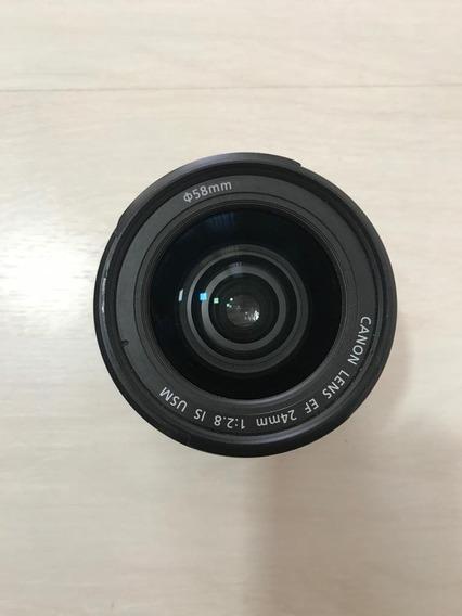 Lente Canon Ef 24mm Is Usm F/2.8 Em Perfeito Estado