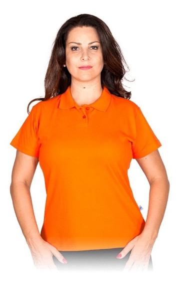 Camisa Pólo Feminina Em Algodão Poliéster Piquet Uniforme
