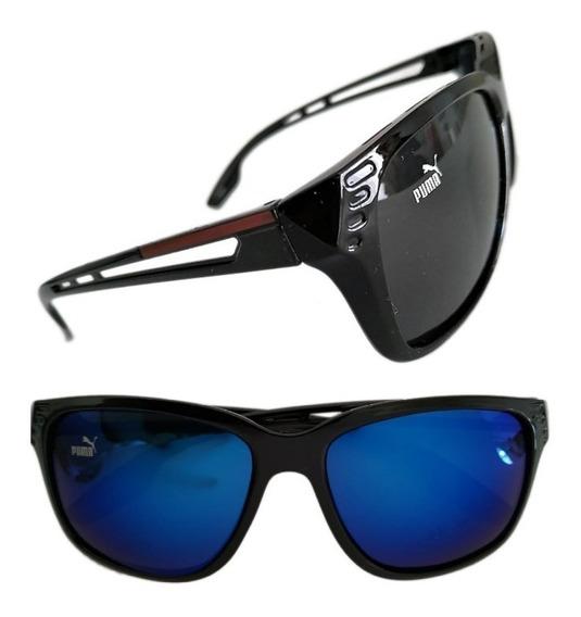 Kit 10 Óculos De Sol Puma Masculino Gg Várias Cores +estojo Para Rostos Largos
