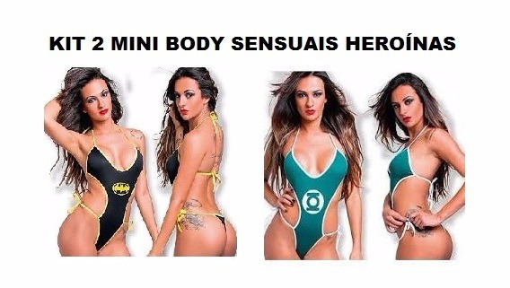Kit Sensual Mini Body Sexy Bat Girl + Lanterna Verde