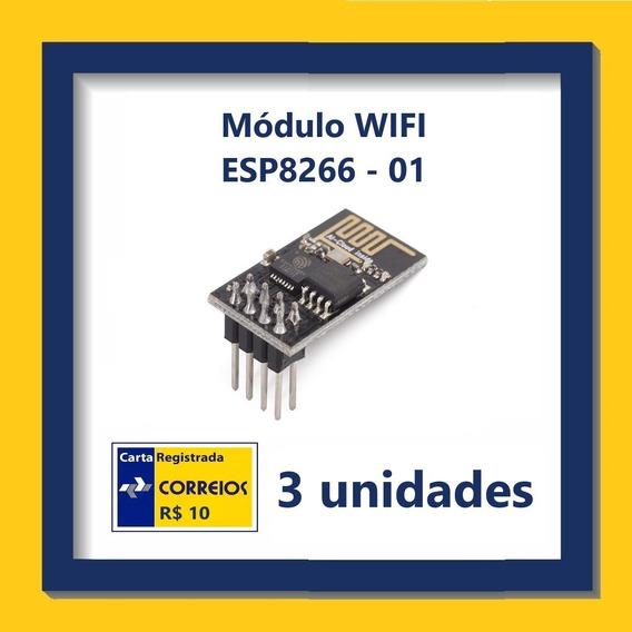Módulo Wifi Esp8266 - 01 - 3 Unidades